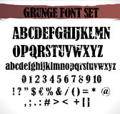 Grunge font set Royalty Free Stock Photography