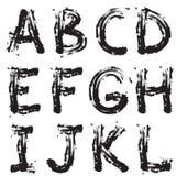 Grunge font Stock Photos