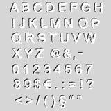 Grunge font - vector Stock Photo