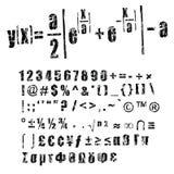 Grunge fonts royalty free stock photo