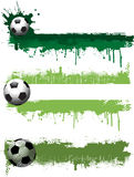 Grunge football banners Royalty Free Stock Images