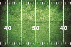 Grunge Football Field Royalty Free Stock Photos