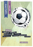 Grunge football illustration. Stock Image