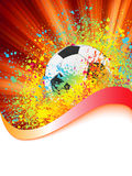 Grunge football poster with soccer ball. EPS 8 Stock Images
