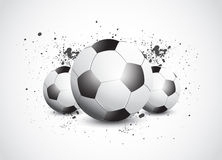 Grunge Football Soccer Stock Photo