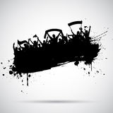 Grunge football / soccer background Royalty Free Stock Images