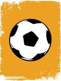 Grunge football/soccer ball Stock Images