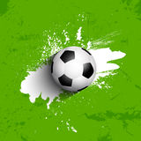 Grunge football / soccer ball background Royalty Free Stock Image