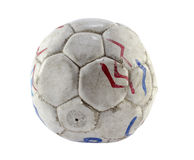 Grunge football. Or soccer ball on white background Royalty Free Stock Images