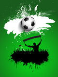 Grunge football / soccer crowd background Stock Image