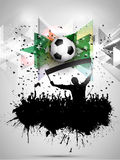 Grunge football / soccer crowd background Stock Images
