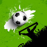 Grunge football / soccer crowd background Stock Photos