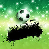 Grunge football or soccer crowd background Stock Photos