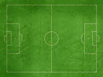 Grunge football or soccer pitch Stock Images