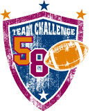 Grunge football team shield Stock Photo
