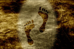 Grunge footprints Stock Photos
