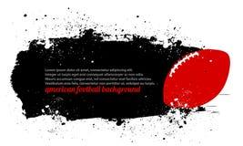 Grunge fotbollaffisch Arkivfoto