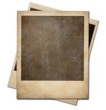 Grunge fotografii polaroidu natychmiastowe ramy odizolowywać obraz royalty free