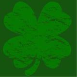 Grunge four-leaf clover Stock Image