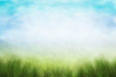 Grunge Frühlings-Feld Lizenzfreie Stockfotos