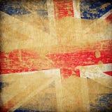 grunge för bakgrundsengland flagga Arkivfoto
