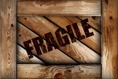 Grunge fragile wooden box background. Vector Royalty Free Stock Photos