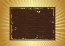 Grunge frame. Grunge brown frame in yellow retro background eps Stock Image