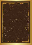 Grunge frame. Grunge brown frame in golden background eps Royalty Free Stock Image