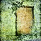 Grunge frame. Abstract shabby background with grunge floral frame royalty free illustration