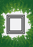 Grunge frame. In green retro background eps Royalty Free Stock Images