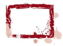 Grunge frame. Grunge scratched frame with daubs Stock Image