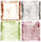 Grunge frame. Watercolor background Royalty Free Stock Photos