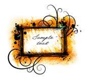 Grunge frame. Decorative grunge frame with swirls stock illustration