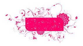 Grunge frame. Pink banner isolated in white background.  You can easily add your text Royalty Free Stock Photography