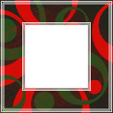 Grunge frame-03. Frame with abstract colorful pattern. Grunge circles and dots. Vintage style. Border for photo or images stock illustration