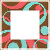 Grunge frame-01. Frame with abstract colorful pattern. Grunge circles and dots. Vintage style. Border for photo or images vector illustration