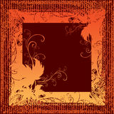 Grunge frame with Autumn Leafs. Thanksgiving Royalty Free Stock Images