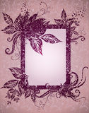 Grunge frame with Autumn Leafs. Thanksgiving Royalty Free Stock Photo