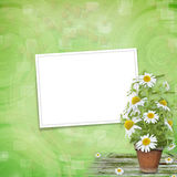Grunge frame with beautiful bunch Royalty Free Stock Image
