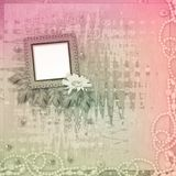 Grunge frame with beautiful necklace,  beads Stock Photography