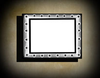 Grunge frame  on  beige  old dirty wall Royalty Free Stock Image