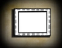 Grunge frame  on  beige  old dirty wall Royalty Free Stock Images