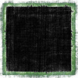 Grunge Frame Border. Vintage style green border grunge frame with black copy space Royalty Free Stock Images