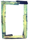 Grunge frame border. Heavily stained masking tape border or frame. Good texture and lots of fine detail Royalty Free Stock Images