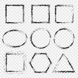 Grunge frame, border on a transparent background. Vector elements for your design. vector illustration