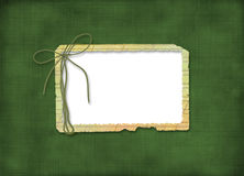 Grunge frame with bow Stock Image