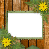 Grunge frame with bunch of flower Stock Photography