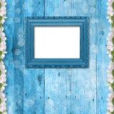 Grunge frame with bunch of flower Stock Image