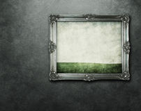 Grunge frame with clipping path Stock Image