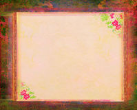 Grunge Frame For Congratulation With Flower Royalty Free Stock Photo